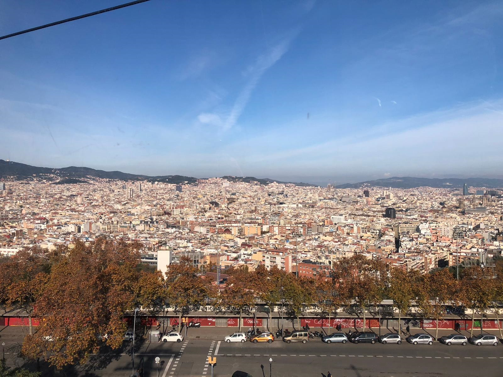 Barcelona Cable Car view